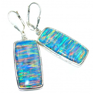 Classy Design Opal .925 Sterling Silver handmade earrings