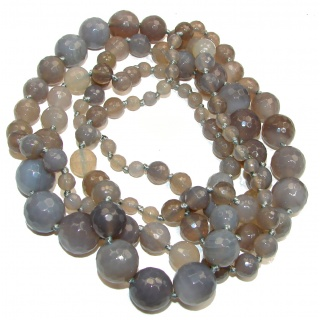 Huge Genuine Grey Botswana Agate handmade necklace