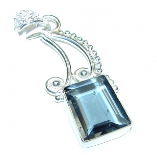 Royal Blue Quartz .925 Sterling Silver handcrafted Pendant
