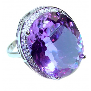Huge Precious Alexandrite .925 Sterling Silver Statement HUGE Ring s. 9