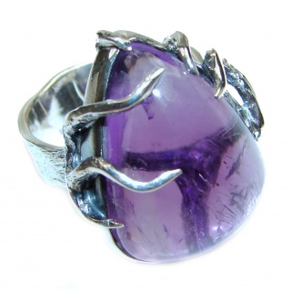 Purple Perfection Amethyst .925 Sterling Silver Ring size 9 1/2