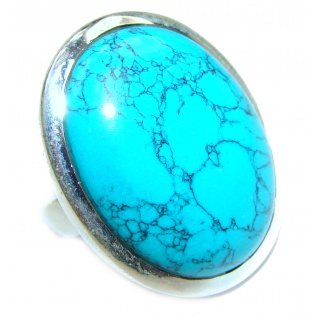 Great quality Turquoise .925 Sterling Silver handcrafted Ring size 9