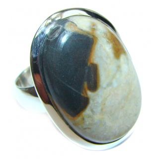 Imperial Jasper .925 Sterling Silver Ring size 8 1/2