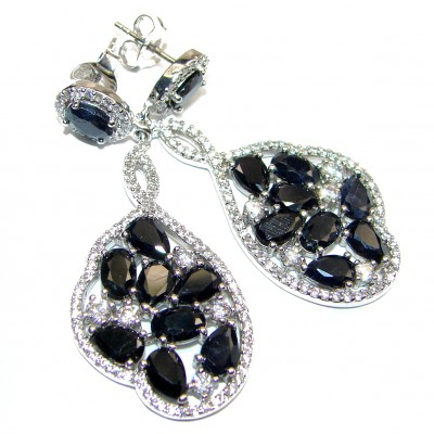 Huge Incredible Spinel .925 Sterling Silver handcrafted earrings