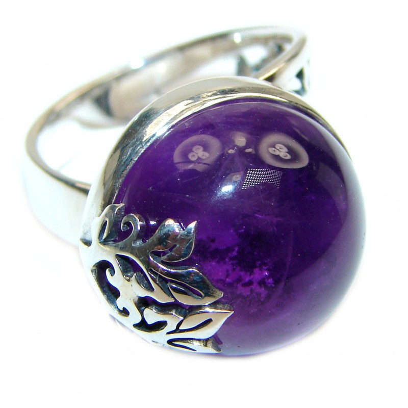 24ctw Purple Perfection Amethyst .925 Sterling Silver Ring size 7 adjustable