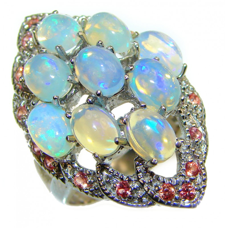 Open Sky Ethiopian Opal .925 Sterling Silver handcrafted ring size 8