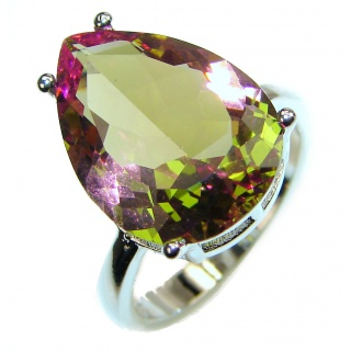 Huge Precious Alexandrite .925 Sterling Silver Statement HUGE Ring s. 7 1/2