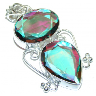 Spectacular authentic Magic Topaz .925 Sterling Silver handcrafted Pendant