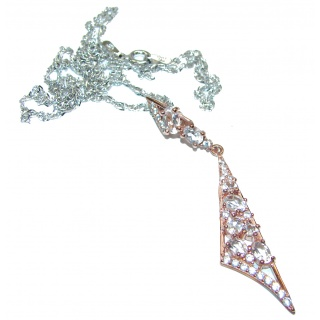 Exclusive White Topaz .925 Sterling Silver handcrafted necklace