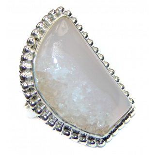 Amazing Crystal Druzy Sterling Silver Ring s. 6