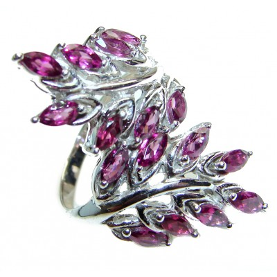 Royal purple authentic Amethyst .925 Sterling Silver Statement Ring size 8 1/2
