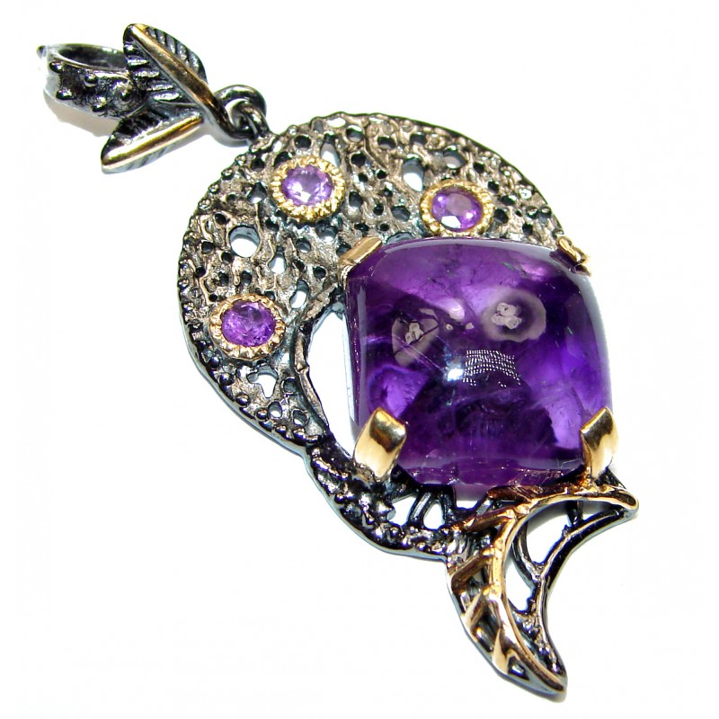 Genuine African Amethyst .925 Sterling Silver handcrafted pendant