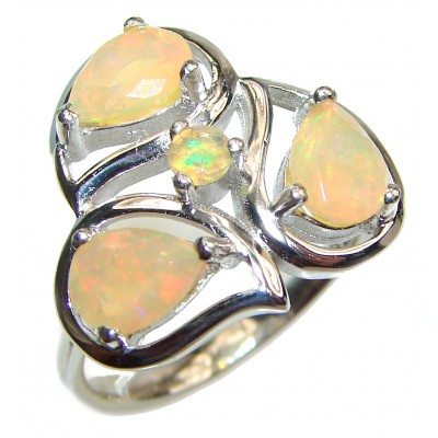 Open Sky authentic Ethiopian Opal .925 Sterling Silver handcrafted ring size 8