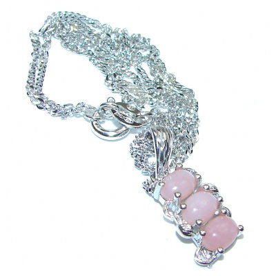 Pink Opal Rose Gold over .925 Sterling Silver handmade Necklace