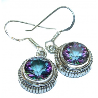 Mystical Eye Rainbow Magic Topaz .925 Sterling Silver earrings