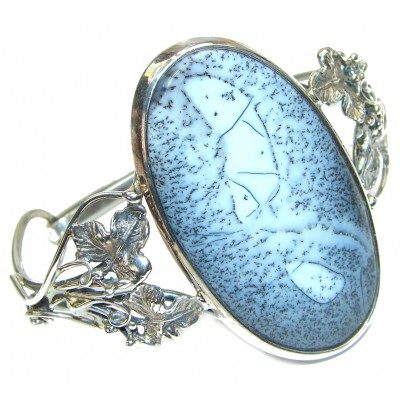 Dendritic Agate highly polished .925 Sterling Silver handcrafted Bracelet