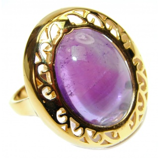 24ctw Purple Perfection Amethyst .925 Sterling Silver Ring size 8 3/4