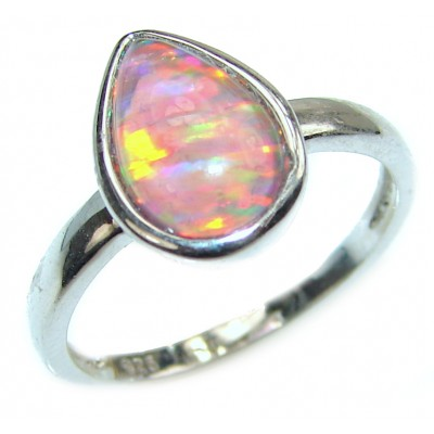 Open Sky authentic Ethiopian Opal .925 Sterling Silver handcrafted ring size 7