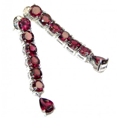 Fancy best quality Garnet .925 Sterling Silver handcrafted earrings