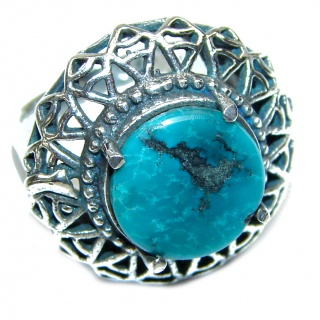 Turquoise .925 Sterling Silver ring; s. 6 3/4
