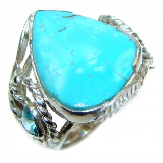 Turquoise .925 Sterling Silver ring; s. 7