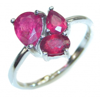 Authentic Ruby .925 Sterling Silver Ring size 9