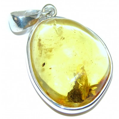 Ancient Holy Traesure Amber .925 Sterling Silver entirely handcrafted pendant