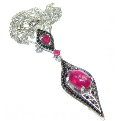 Incredible Authentic Ruby .925 Sterling Silver necklace