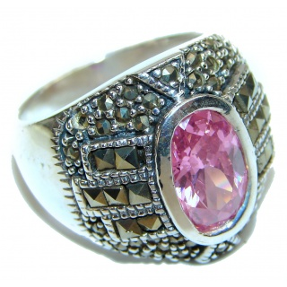 Norwegian Pink Fiord .925 Sterling Silver Ring s. 8