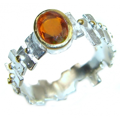 Genuine Garnet .925 Sterling Silver handcrafted Ring size 9