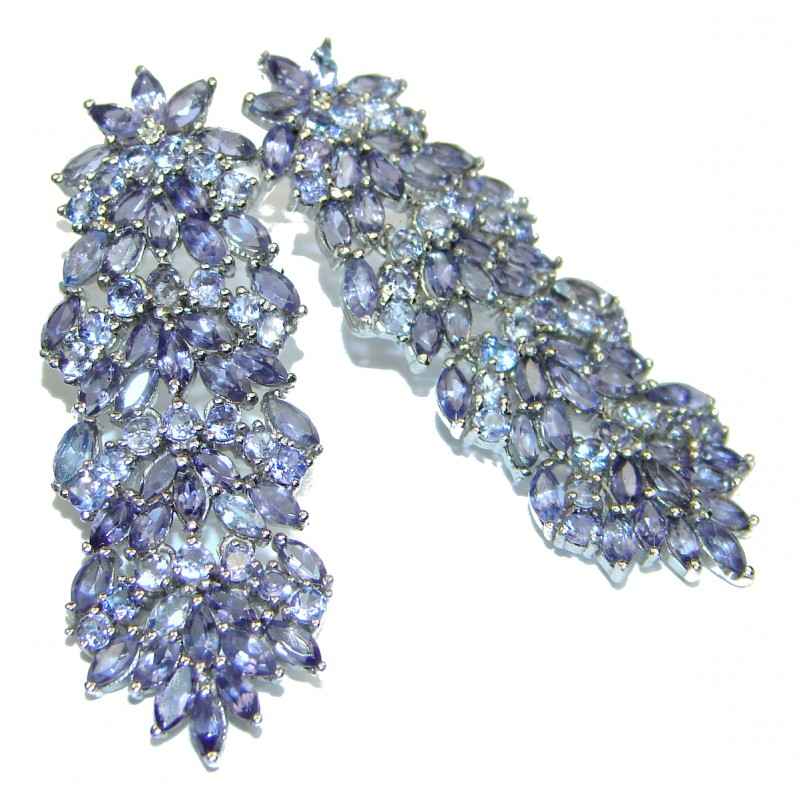Pure Perfection Aquamarine Tanzanite .925 Sterling Silver earrings