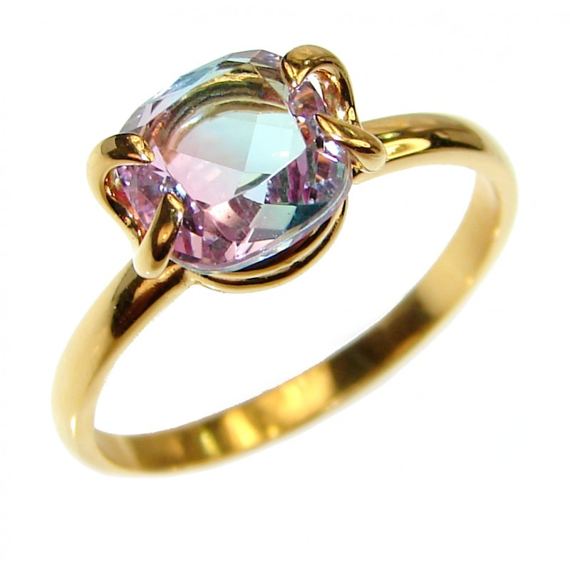 Posh Ametrine 14K Gold over .925 Sterling Silver handcrafted Ring s. 9