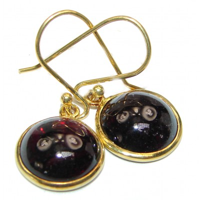 Authentic 12ct Garnet .925 Sterling Silver handmade earrings