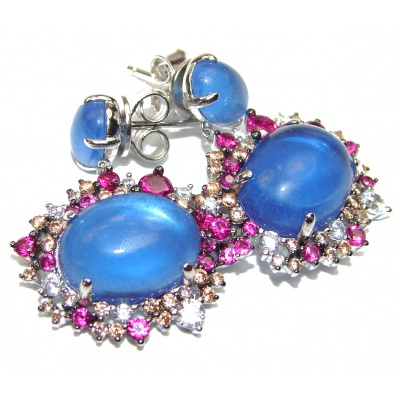 Purple Perfection London Blue Topaz .925 Sterling Silver earrings