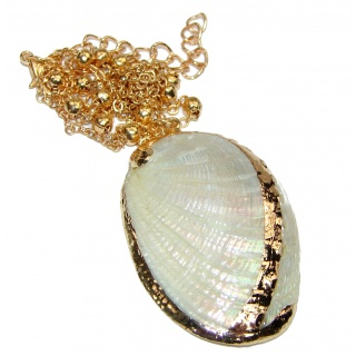 Vitamin Sea Large Gold over .925 Shell Sterling Silver necklace