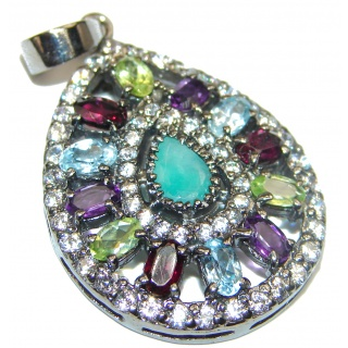 Mia Emerald .925 Sterling Silver handcrafted pendant