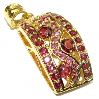 Mia Ruby Garnet Gold over .925 Sterling Silver handcrafted pendant