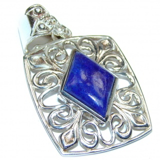 Natural Lapis Lazuli .925 Sterling Silver handcrafted Pendant
