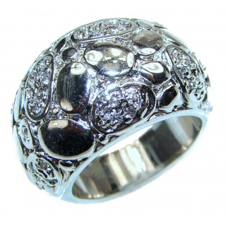 Large Bali made .925 Sterling Silver handcrafted Ring s. 6