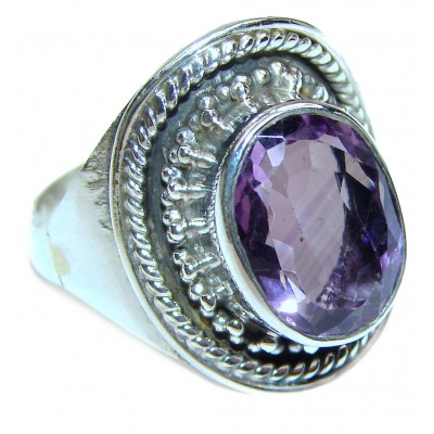 Purple Reef Amethyst .925 Sterling Silver Ring size 8