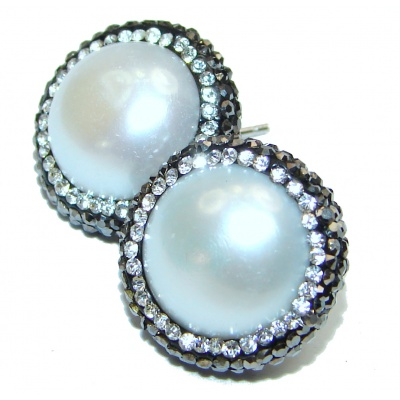 Real Beauty Pearl .925 Sterling Silver handmade Earrings