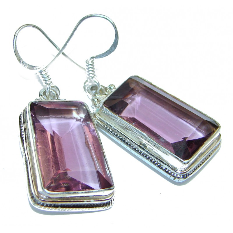 Great Lilac Cubic Zirconia Sterling Silver earrings