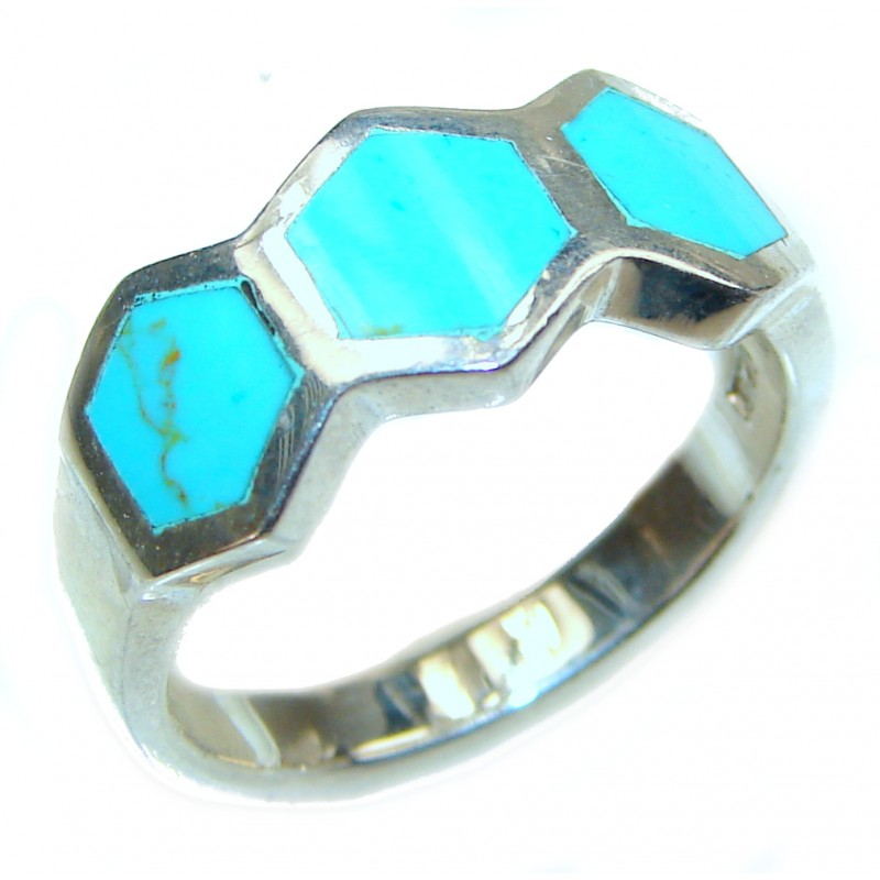 inly Turquoise .925 Sterling Silver ring; s. 8