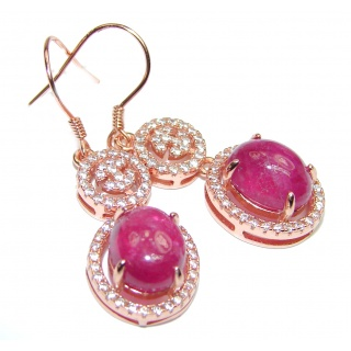 Incredible quality authentic Ruby Gold over .925 Sterling Silver handcrafted LONG earrings
