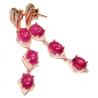 Incredible quality Ruby Gold over .925 Sterling Silver handcrafted earrings
