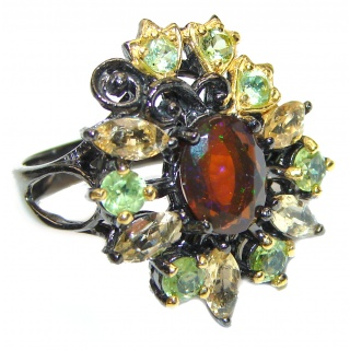 Vintage Design Authentic Garnet .925 Sterling Silver brilliantly handcrafted ring s. 7
