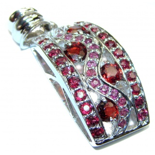 Incredible Garnet .925 Sterling Silver handcrafted pendant