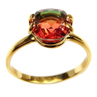 4.1 Watermelon Tourmaline .925 Sterling Silver handcrafted Ring size 9