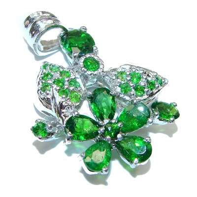 Authentic Chrome Diopside .925 Sterling Silver Pendant