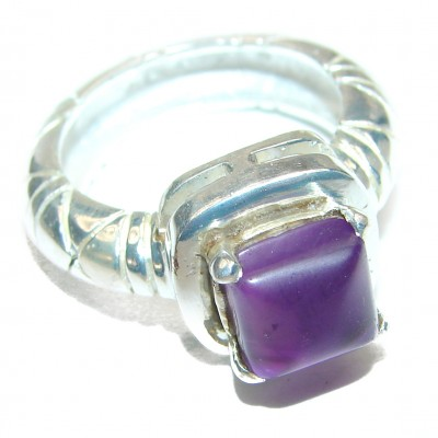 Purple Reef Amethyst .925 Sterling Silver Ring size 7 1/4